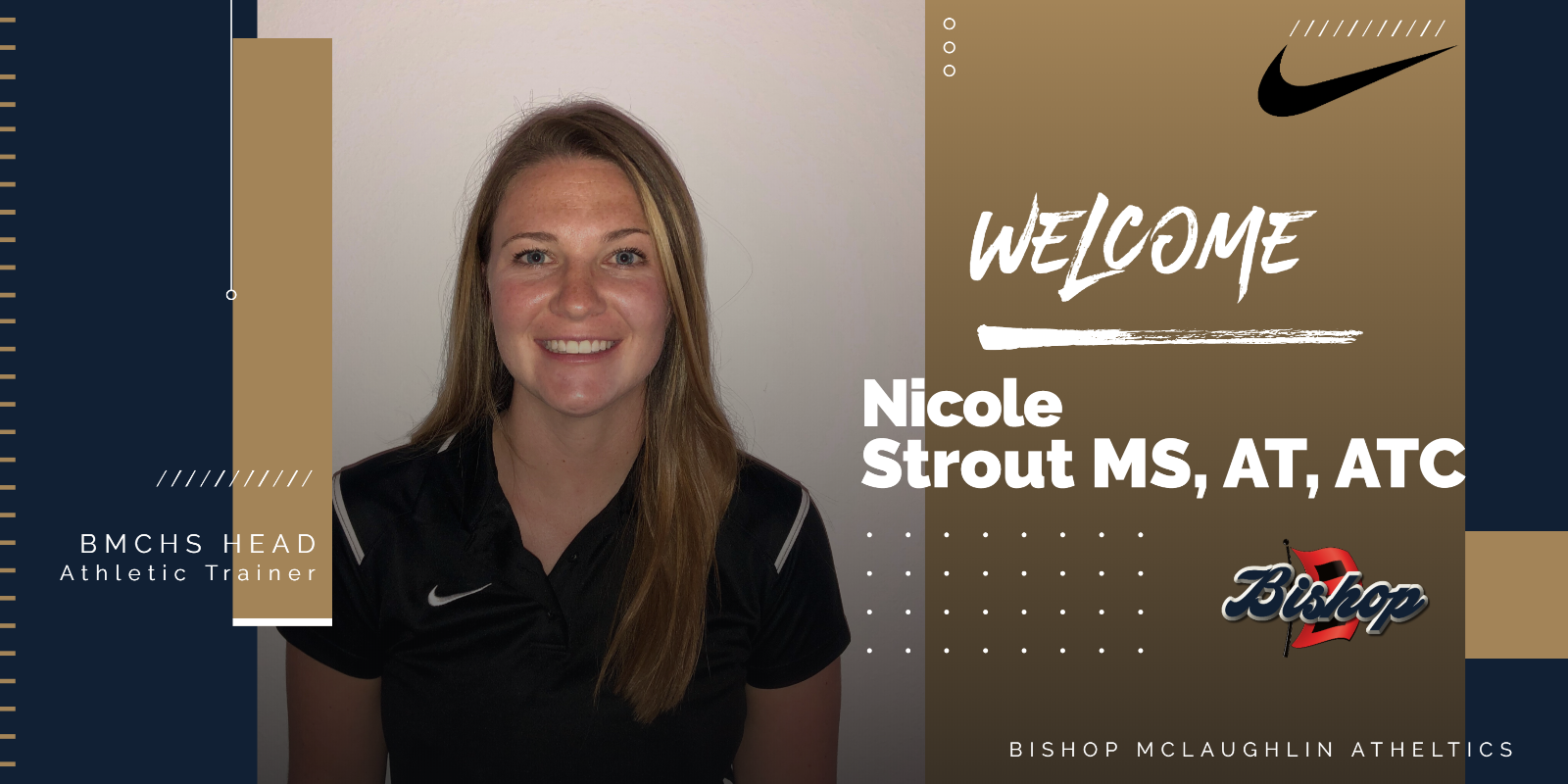 Welcome New Head Athletic Trainer Nicole Strout MS, LAT, ATC