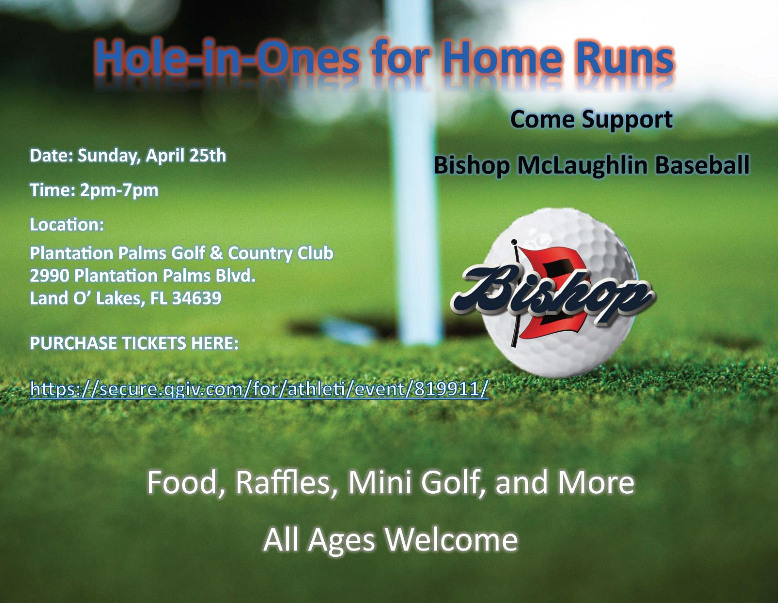 Bishop Baseball Mini-Golf Fundraiser