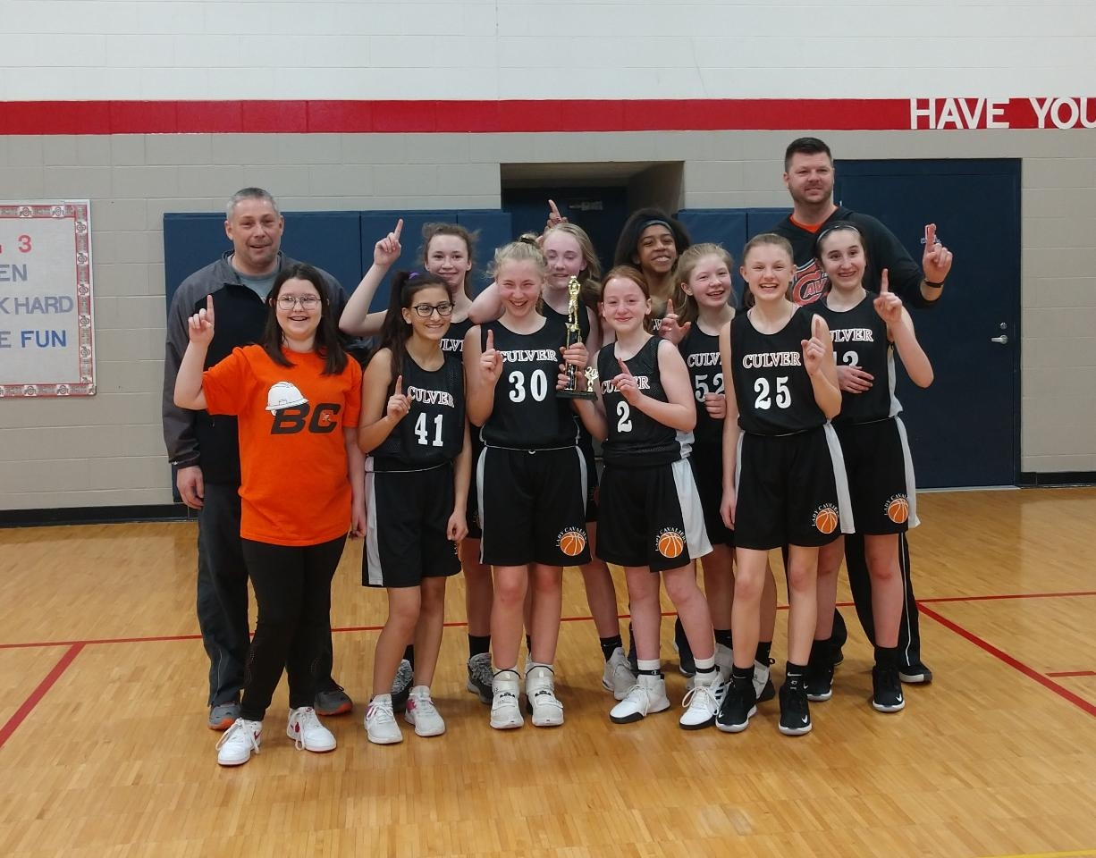 7th Grade Girls Basketball Team Wins the HNAC