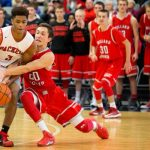 Omaha South High School Boys Varsity Basketball beat Millard South High School 55-51