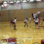 Omaha South High School Girls Varsity Volleyball falls to Roncalli Catholic High School 2-1