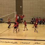 Omaha South High School Girls Varsity Volleyball beat Thomas Jefferson High School 2-0