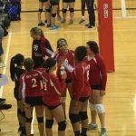 Omaha South High School Girls Freshman Volleyball beat Bryan High School 2-0