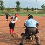 Omaha South High School Varsity Softball falls to Burke High School 12-2