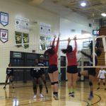 Omaha South High School Girls Varsity Volleyball beat Benson High School 2-0