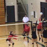 Omaha South High School Girls Varsity Volleyball beat Fremont High School 2-1