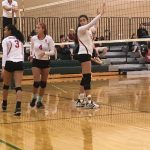 Omaha South High School Girls Varsity Volleyball beat Norfolk High School 2-0