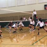 Omaha South High School Girls Varsity Volleyball falls to Columbus High School 2-0