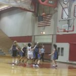 Omaha South High School Girls Junior Varsity Basketball falls to Marian High School 55-8