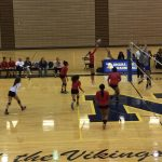 Omaha South High School Girls Varsity Volleyball falls to Omaha North High School 3-0