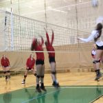 Omaha South High School Girls Junior Varsity Volleyball beat Lincoln High School 2-1