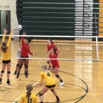 Girls Varsity Volleyball falls to Harry A Burke 2 – 0