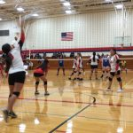 Girls Sophomore Volleyball beats Omaha North 2 – 0