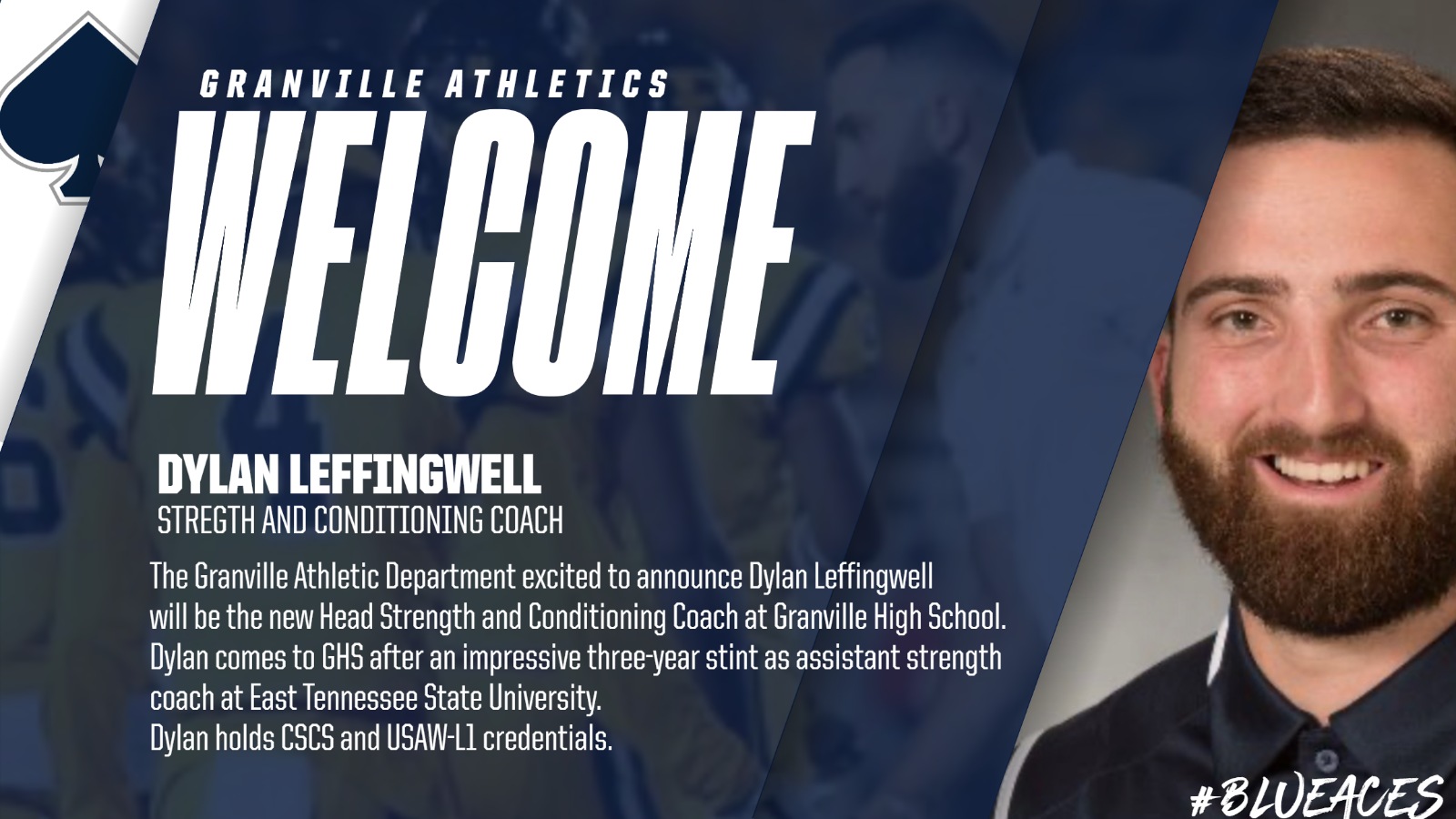 Granville Athletics lands Dylan Leffingwell as S&C Coach