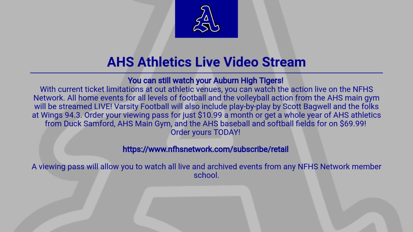Watch AHS Sports live stream!