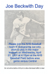 Baseball Honors Joe Beckwith