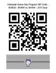 Volleyball Game Day Program QR Code – 9/29/20 – BVNW vs. BVSW – JV/V Dual