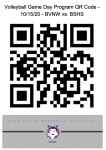 Volleyball Game Day Program QR Code – 10/15/20 – BVNW vs. BSHS Varsity Dual