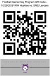 Football Game Day Program QR Code – 10/29/20 BVNW Huskies vs. SME Lancers