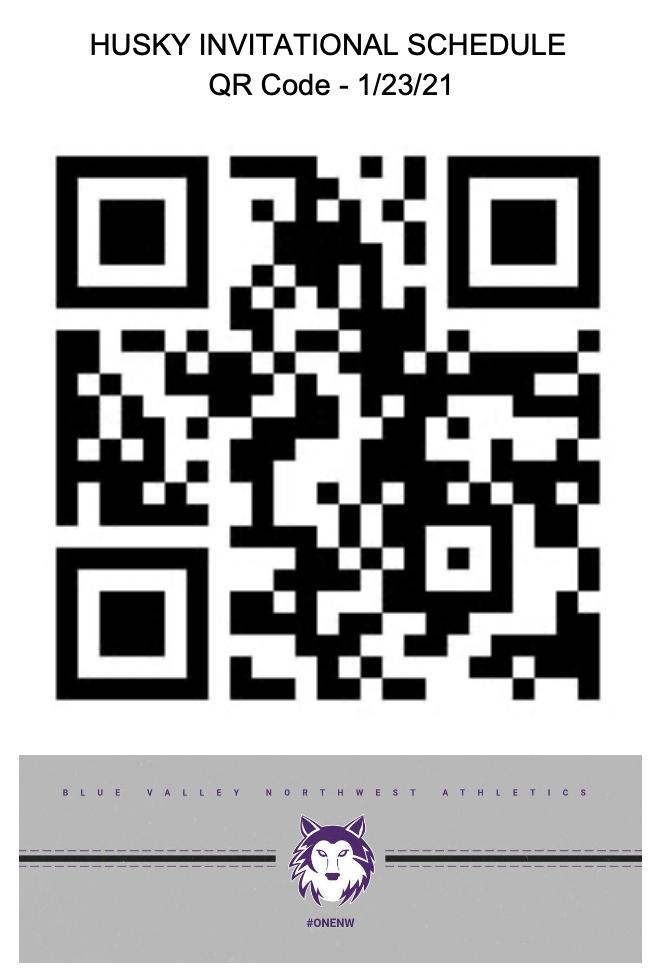 HUSKY INVITATIONAL SCHEDULE OF EVENTS – 1/23/21