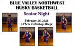 "Boys Basketball ""Senior Night"" Program – 2/26/21 BVNW Huskies vs. BM Stags"