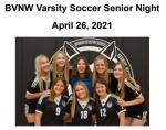 BVNW vs Notre Dame de Sion Senior Night Varsity Soccer Program 4.26.21