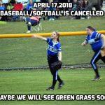 April 17,2018 Baseball/Softball Cancelled