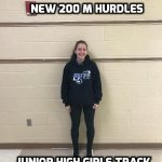 Sadie Christoff New 200 M Hurdles Record Holder