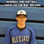 May 3rd Baseball and Softball Update