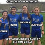 4X200 Junior High Girls Break Own Record