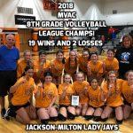 8th Grade Volleyball Team Wins MVAC League Championship!