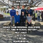 Boys Cross Country Team Qualifies for OHSAA Regional For First Time in School History!