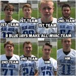 8 Blue Jays Make All-MVAC All-League Football Team!