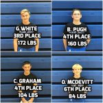 4 Blue Jays Place at Garfield Heights Invite for Middle School Wrestling