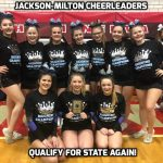 Jackson-Milton Cheerleaders Qualify For State Championships Again!