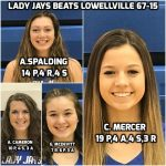 Lady Jays Varsity Basketball Advances to Next Round in OHSAA State Tournament With 67-15 Win Over Lowellville  High School