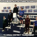 Sophomore Austin Stanke Advances to OHSAA District Tournament; Blue Jays Wrestling Finishes 9th at OHSAA Rootstown Sectional
