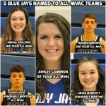 5 Blue Jays Named to All-MVAC Basketball Teams