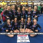 JM Cheerleaders Sweep Warren Harding Competition; Black Team Wins Series Championship