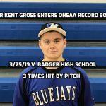 Junior Kent Gross Enters OHSAA Baseball Record Books