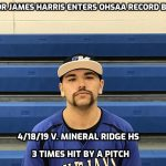 James Harris Enters OHSAA Baseball Record Books
