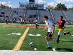 JV Soccer Plays Liberty High School's Varsity Team