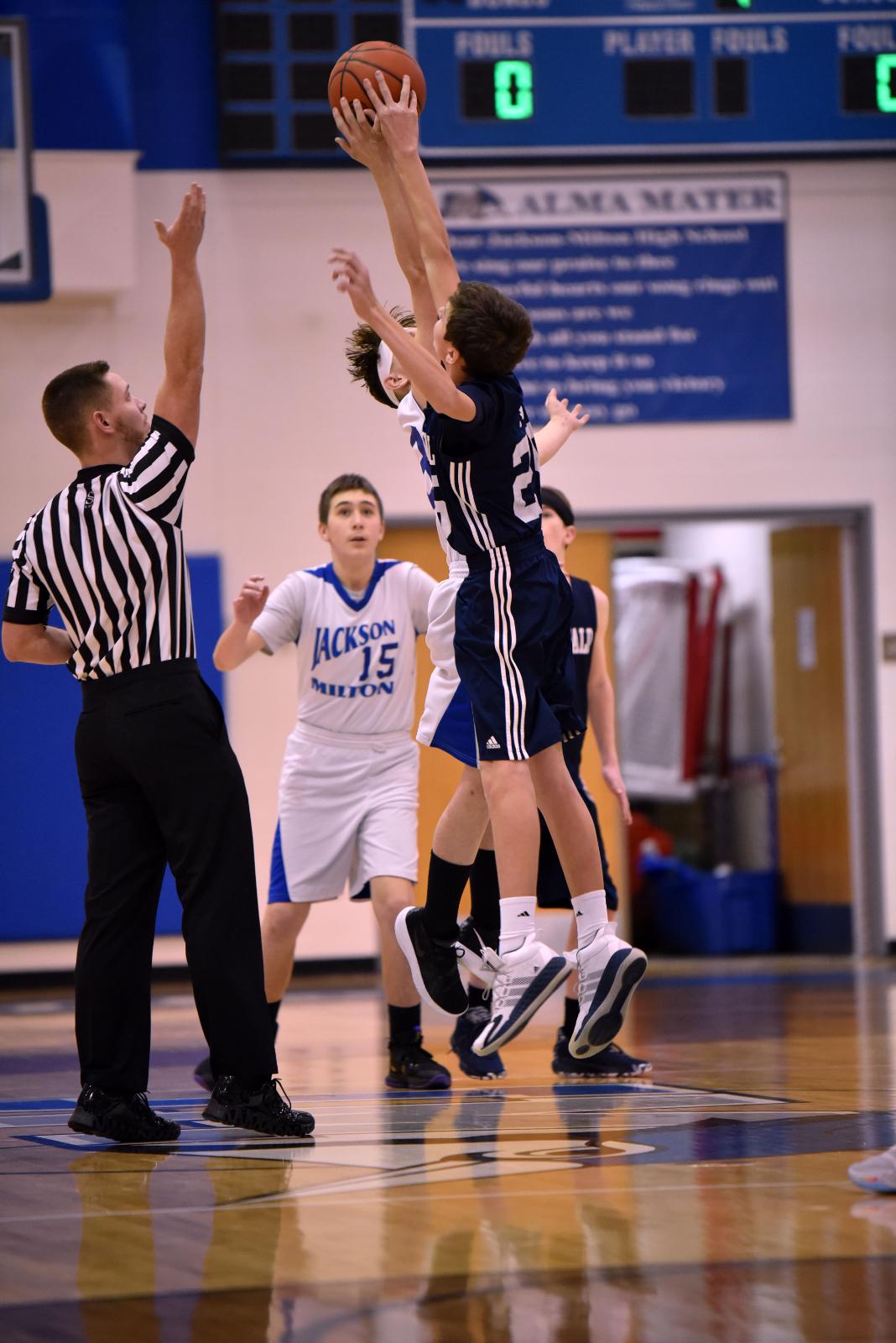 Middle School Boy's Basketball Jan. 13, 2021