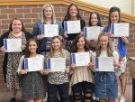 Cheer team holds awards banquet