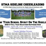 Fall Sideline Cheerleading Tryouts are Set!