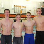 Boys Varsity Swimming beats Princeton 124 – 62
