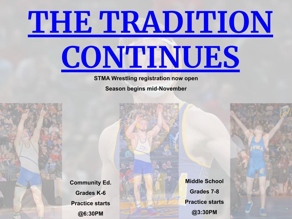 Youth & Middle School Wrestling Begins Soon!!!!