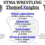 2019-2020 STMA Wrestling Themed Knights!