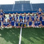 STMA Football Cheerleaders Cheer Off Champions once again!