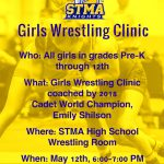 Girls Wrestling Clinic on May 12th